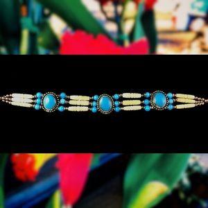 Jewelry - Turquoise Bohemian Tribal Choker